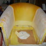 fauteuils pendant la réfection