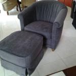 pouf et fauteuil terminés